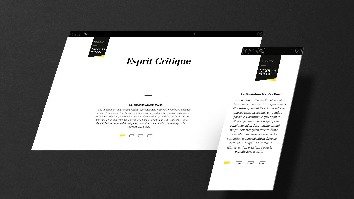 Web design, motion design et ligne graphique
