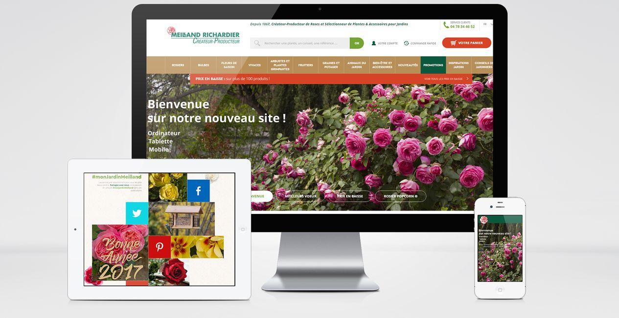 SITE E-COMMERCE PARMI LES LEADERS DANS LA VENTE DE FLEURS & PLANTES