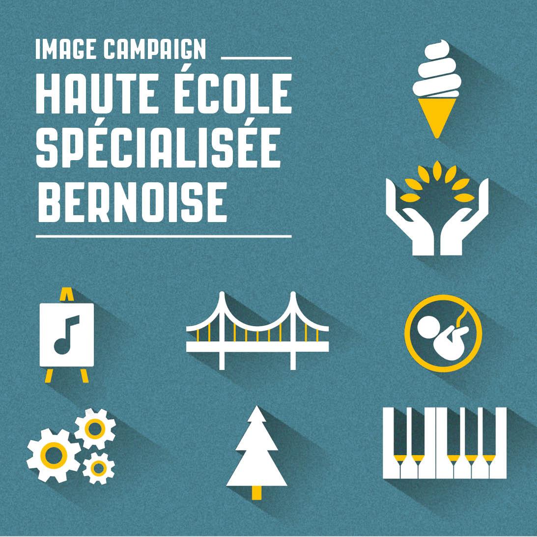 Campagne d'image pour la Haute école spécialisée bernoise