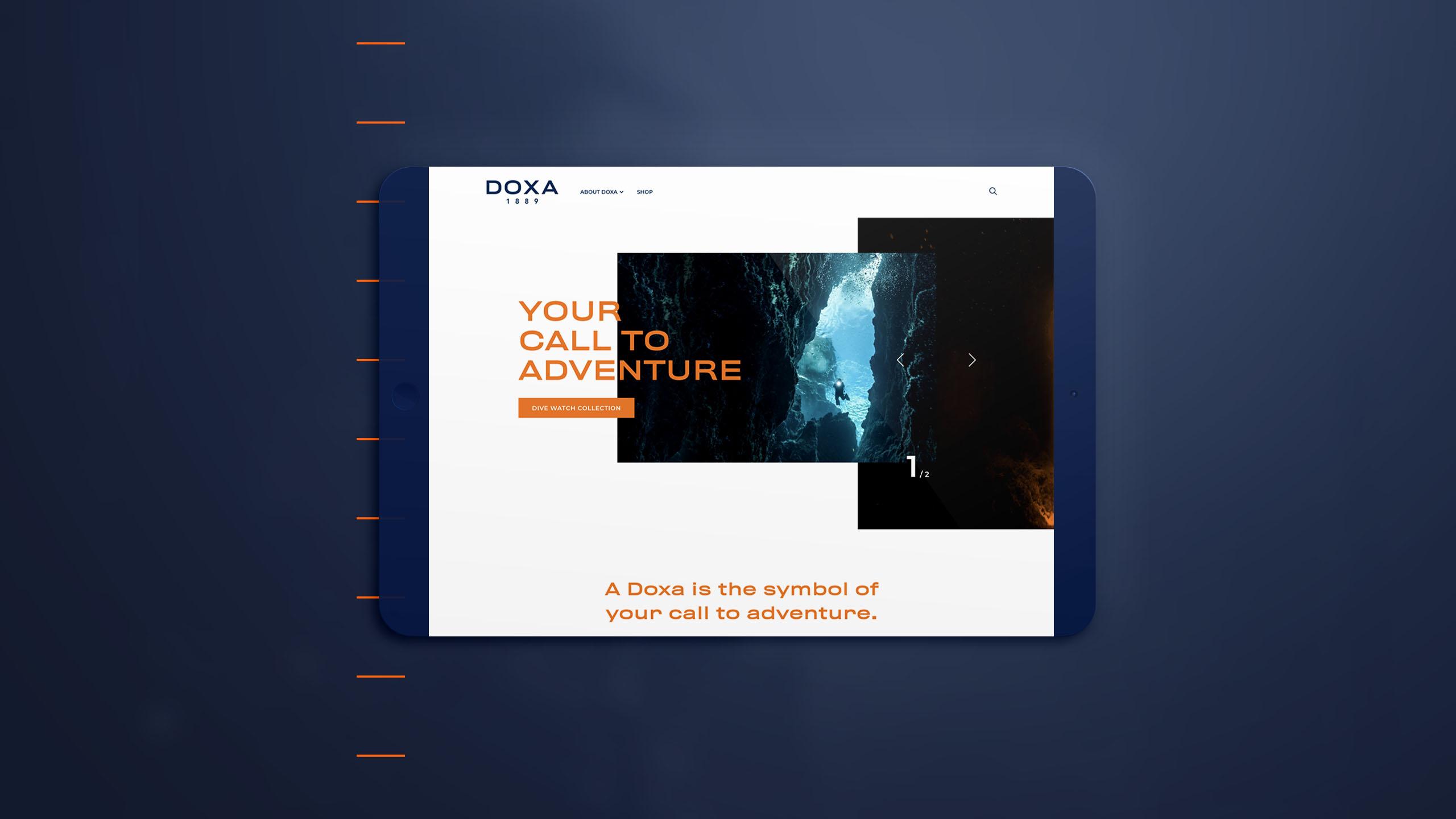 Stratégie de marque, vidéo produit et site internet de Doxa