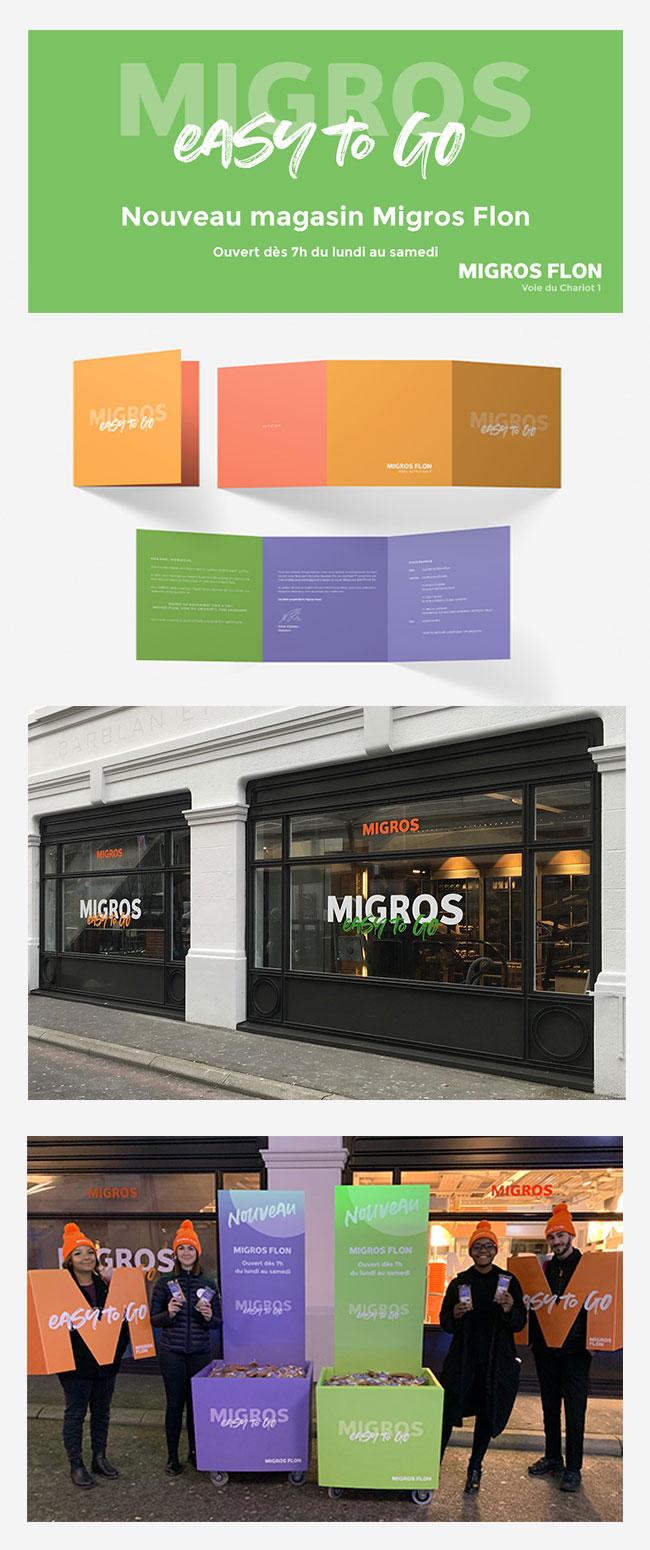 Ouverture du nouveau magasin Migros Flon